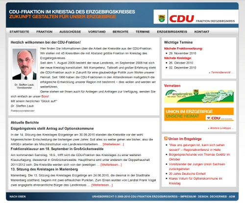Bildschirmfoto www.cdu-fraktion-erzgebirge.de